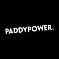 paddypower black logo horse racing